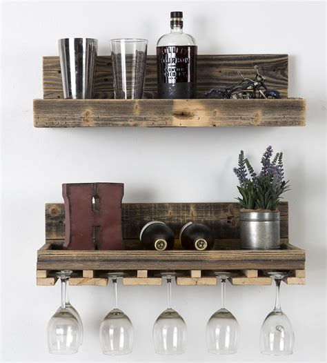 pair  reds  whites   collection  wine glasses   set  reclaimed wood