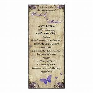 double sided purple butterfly wedding program invite my With 2 sided photo wedding invitations