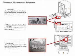 Lg Help Library  Locate Model And Serial Numbers On Lg Dishwasher