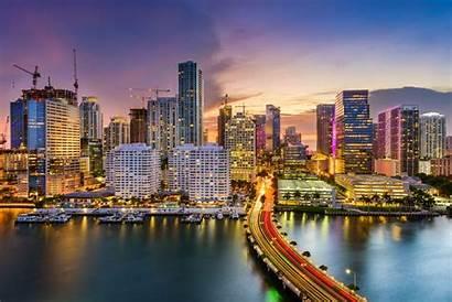 Miami Parasailing Places Florida Skyline