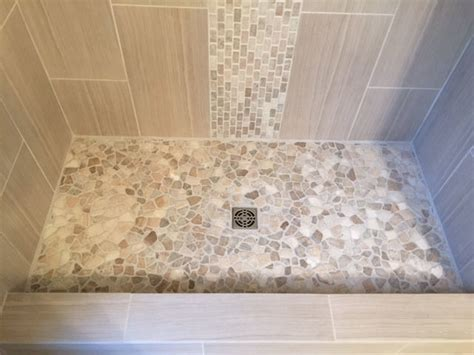 glass mosaic tile kitchen backsplash ideas mixed quartz shower flooring with quartz accent subway