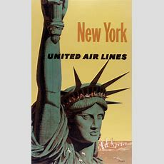 United Airlines Posters  Vintage European Posters