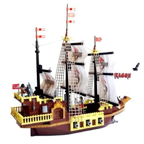 Lego Boat Pirate by Pirate Ship Lego Compatible From Slick Bricks
