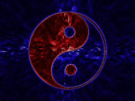 Red And Blue Yinyang By Neonmo On Deviantart