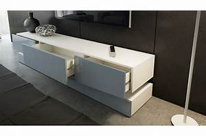 Meuble TV Design Blanc 178 Cm