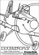 Dusty Coloring Crophopper Planes Getcolorings Printable Getdrawings sketch template