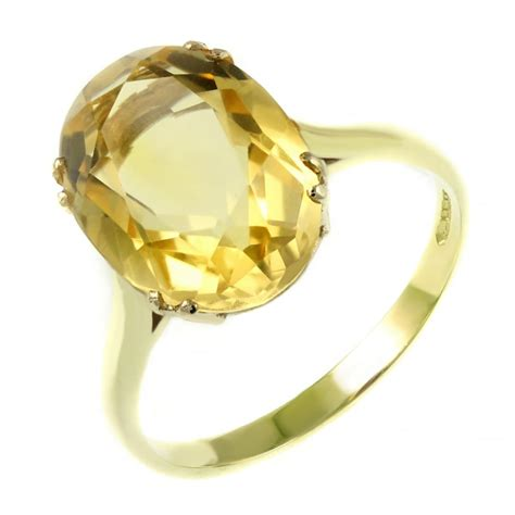 ct yellow gold mm  mm oval citrine ring jewellery