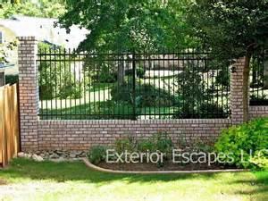 steel fences aluminum fences greenville sc south carolina exterior escapes llc