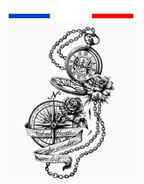 tatouage boussole rose des vents mon petit tatouage