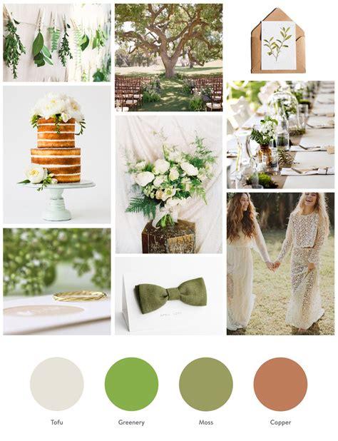 greenery pantone farbe des jahres  modern wedding