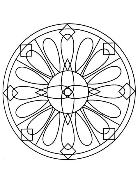 Simple mandala 77 - Mandalas Coloring pages for kids to