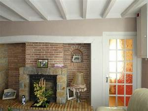 et si on peignait les poutres maison jardin With peinture pour poutres en bois