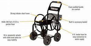 Ironton Garden Hose Reel Cart  U2014 Holds 5  8in  X 300ft  Hose