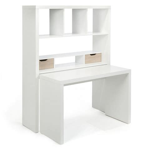 bureau simple blanc bureau modulable avec étagères et tiroirs twisty bureau