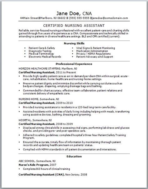 best resume cna no experience http jobresumesle