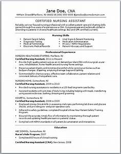 certified nursing assistant resume free resume templates With cna resume template