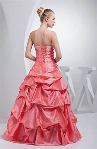 Coral Disney Princess Princess Strapless Backless Floor ...