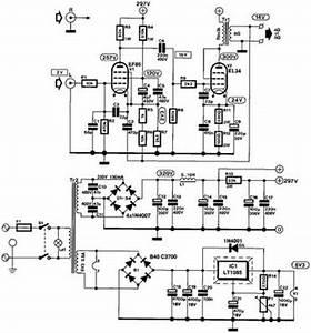 tube ef86 el34 8watt single ended hi fi power amplifier With circuit diagram 15w el84 power amp and a transformer power supply schematic