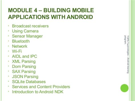 Android Training Syllabus