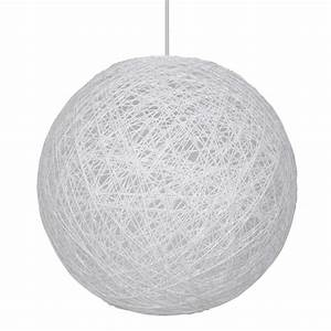Suspension Boule Blanche : suspension boule en ficelle tress e blanche style d co ~ Teatrodelosmanantiales.com Idées de Décoration