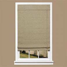 Homebasics Brown Linenlook Thermal Blackout Fabric Roman