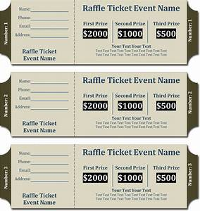 20 free raffle ticket templates with automate ticket With free template for raffle tickets with numbers