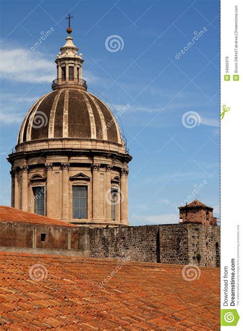 Tetto A Cupola by Cupola E Tetto A Catania Fotografie Stock Libere Da