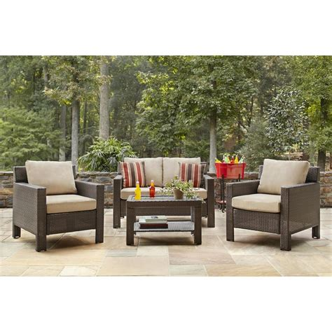 hampton bay beverly  piece patio deep seating set