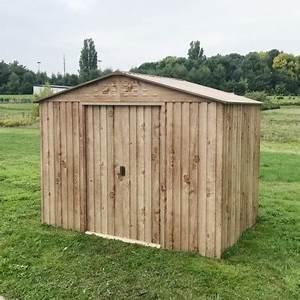 abri de jardin en metal imitation bois 475m2 duramax With abri de jardin metal imitation bois