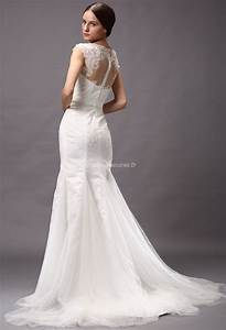 Robe De Mariée Moderne : robe de mari e moderne col montant dentelle ~ Melissatoandfro.com Idées de Décoration