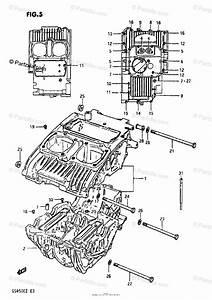 Suzuki Motorcycle 1981 Oem Parts Diagram For Crankcase