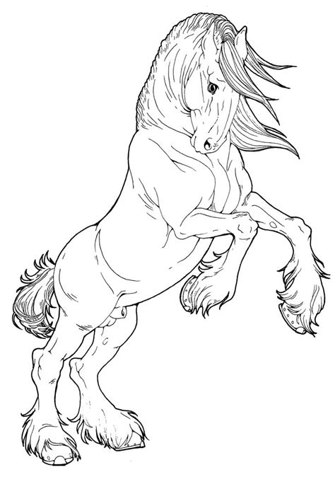 horse coloring page coloring pages  printables