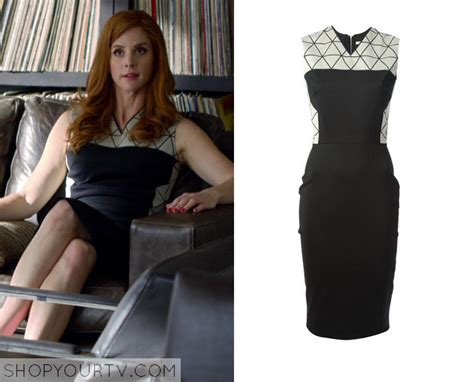 suits season  episode  donnas black geo print dress