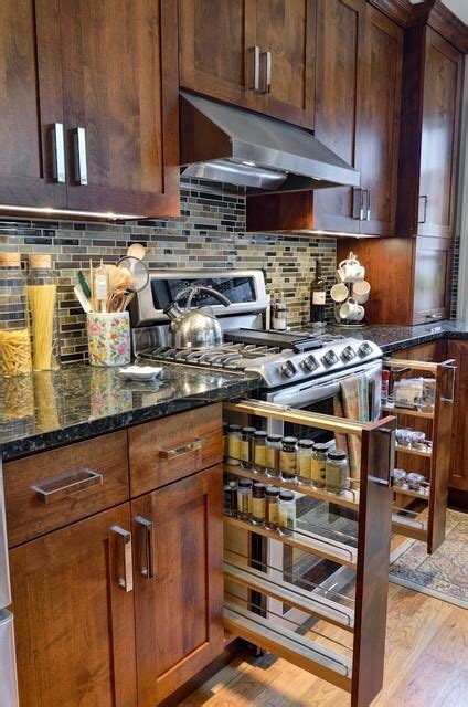 great ideas for small kitchens spice rack to stove kitchen makeover