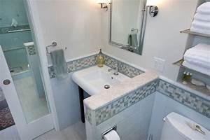 Pocket Door with Mirror - Tropical - Bathroom - san