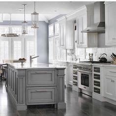 image result  white upper cabinets grey  grey