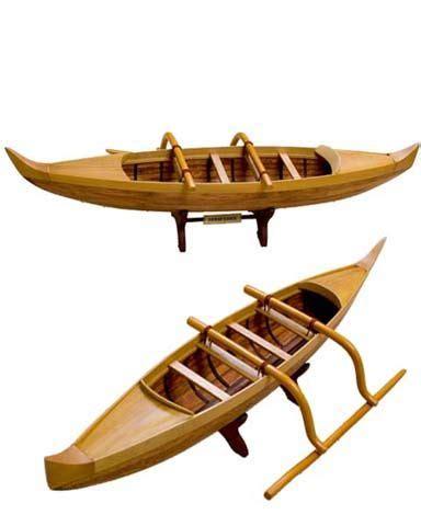 Outrigger Canoe Model, Hawaiian Outrigger Canoe Model ...
