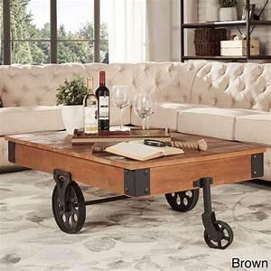 rustic coffee table industrial wheels cocktail modern wood With modern coffee table with wheels