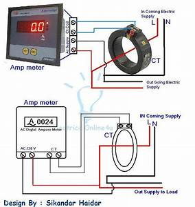 Digital Ammeter Wiring With Current Transformer