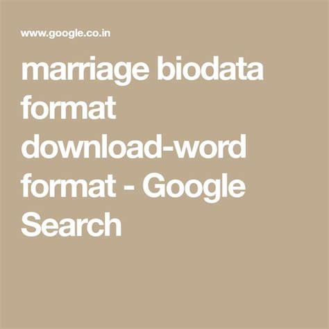 Biodata Sle For by The 25 Best Biodata Format Ideas On Marriage