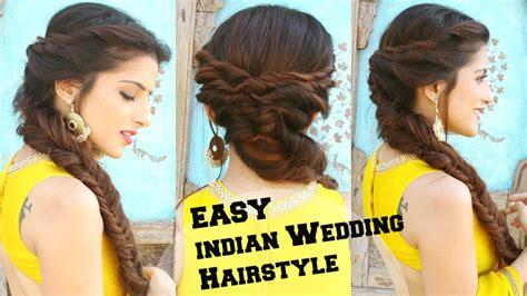 wedding hairstyle  medium  long hair fishtail braid