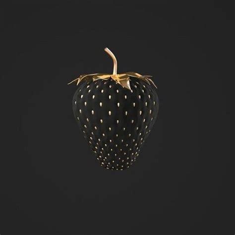 Bild Schwarz Gold by Black Gold Strawberry Awesomeness Black