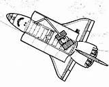 Spaceship Coloring Transportation Kb sketch template