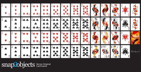 vector playing cards deck freevectors