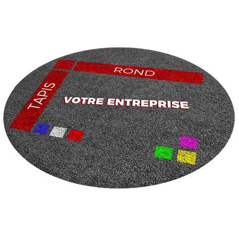 tapis logo premium sur mesure rond tapis logo