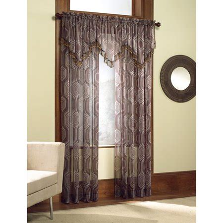 valance curtains walmart casablanca geometric print voile curtain panel valance