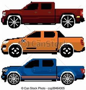 Pixel Art Voiture Facile : art color voitures collection vecteur pixel ~ Maxctalentgroup.com Avis de Voitures