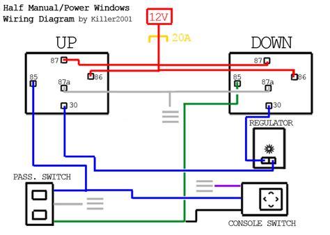 nissan how to half manual half power window