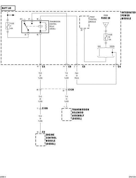 Ground Wiring Diagram 2006 Dodge Ram 2500 Diesel by What Color Wire Power Transmission 04 Dodge Ram 2500 Diesel