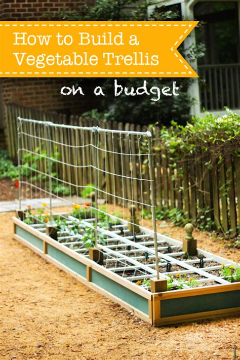how to make a trellis how to build a vegetable trellis on a budget pretty